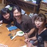 児玉さん、安藤さん、ゆみさん!!@楽屋の高橋家リビング。(マスターの部屋。)