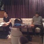 尾藤さん休憩中。
